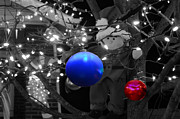 Elf Photo Prints - Christmas Balls Print by Steven  Michael