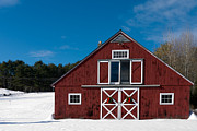 Christmas Greeting Photo Prints - Christmas Barn Print by Edward Fielding