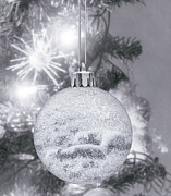 Xmas Digital Art Metal Prints - Christmas Bauble in Tree Metal Print by Wim Lanclus