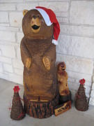 Xmas Pyrography - Christmas Bears by CA Zajicek