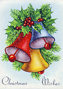 Wishes Posters - Christmas Bells Poster by Munir Alawi