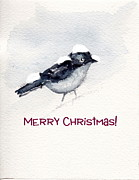 Christmas Greeting Painting Posters - Christmas Birds 02 Poster by Anne Duke