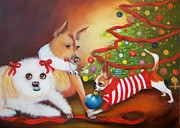 Pets Paintings - Christmas Blessings by Joni McPherson