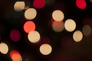 Holidays And Celebrations Prints - Christmas Bokeh Lights Print by Juli Scalzi