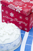 Home Made Food Photos - Christmas Cake by Anne Gilbert