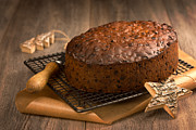 Rack Photos - Christmas Cake With Knife by Christopher and Amanda Elwell