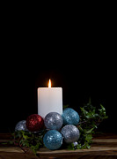 Fuselier Photos - Christmas Candle2 by Cecil Fuselier
