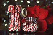 Ball Jar Prints - Christmas Candy Print by Darren Fisher