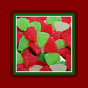 Candy Digital Art - Christmas Candy - Treats - Red - Green - White by Barbara Griffin