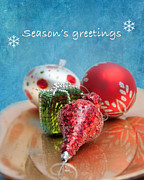 Christmas Cards Digital Art Posters - Christmas Card 6 Poster by Betty LaRue
