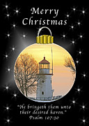 Michael Peychich - Christmas Card Cheboygan Light