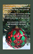 Season For Blessings Card Photo Posters - Christmas Card Poem Poster by Debra     Vatalaro