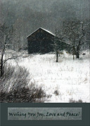 Winter Digital Photo Scene Posters - Christmas Card Winter Scene #1 Poster by Andrew Govan Dantzler