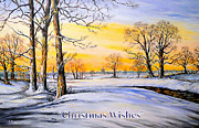 Tall Tree Paintings - Christmas cards by Andrew Read