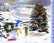 Susan Kinney Art - Christmas Cards in the Mail by Susan Kinney