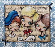 Lizzy Love of Oddball Art Co - Christmas Carolers Sing...