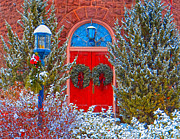 Lewisburg Framed Prints - Christmas Church Framed Print by Mike Griffiths