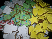 Baking Photos - Christmas Cookies by Mirek Bialy