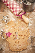 Christmas Star Pyrography Posters - Christmas Cooking Poster by Alexey Ivanov