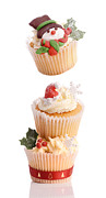 Iced Prints - Christmas Cupcake Tower Print by Christopher and Amanda Elwell