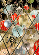 Grate Photos - Christmas Decorations in Window by Anonymous