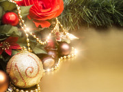 Christmas Greeting Photo Prints - Christmas Decorations Print by Wim Lanclus