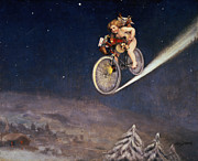 Bicycle  Art - Christmas Delivery by Jose Frappa