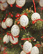Eggshells Posters - Christmas egg shells decoration Poster by Ivy Ho