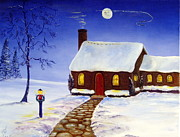 Christmas Eve Paintings - Christmas Eve by Lee Piper