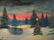 Christmas Eve Paintings - Christmas Eve by Nick Robinson