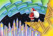 Christmas Eve Drawings Metal Prints - Christmas Eve of Aurora Metal Print by T Koni