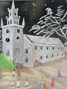 Christmas Eve Paintings - Christmas Eve by William Bowers