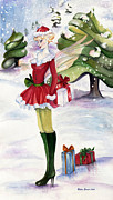 Fantasy Originals - Christmas fantasy  by Nadine Dennis