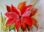 Christmas Flower Paintings - Christmas Flower by Patricia Awapara