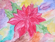 Cheer Painting Posters - Christmas Flower Poster by Sonali Gangane