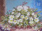 Sparkling Pastels Prints - Christmas Flowers Print by Bernice Grundy