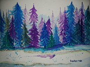 Peggy Leyva Conley - Christmas Forest Trees