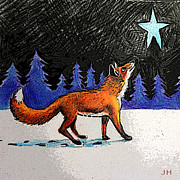 Fox Digital Art - Christmas Fox by Jeanne Hollington