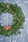 Christmas Natural Posters - Christmas Garland Poster by Christopher and Amanda Elwell