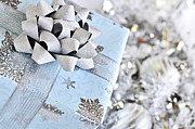 Ribbon Prints - Christmas gift box Print by Elena Elisseeva
