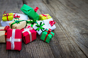 Christmas Gifts Print by Aged Pixel