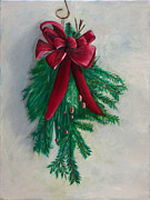 Paintings Available As Prints - Christmas Greens by Phillip Compton