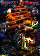 Christmas Greeting Digital Art - Christmas greeting card by Alessandro Della Pietra