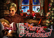 Warm Digital Art - Christmas greeting card V by Alessandro Della Pietra