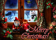 Curtains Digital Art Posters - Christmas greeting card VI Poster by Alessandro Della Pietra