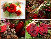 Pine Cones Photo Originals - Christmas Greetings by Dora Sofia Caputo
