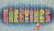 Naive Paintings - Christmas Greetings  by Stanley Cooke