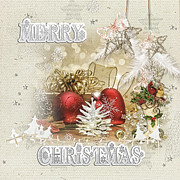 Ribbons Digital Art - Christmas Heart by Mo T