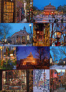 Faneuil Hall Prints - Christmas in Boston Print by Joann Vitali