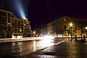 Portsmouth Nh Framed Prints - Christmas in Downtown Portsmouth Framed Print by Eric Gendron